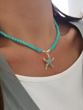 Firuze Deniz Yıldızı Kolye
